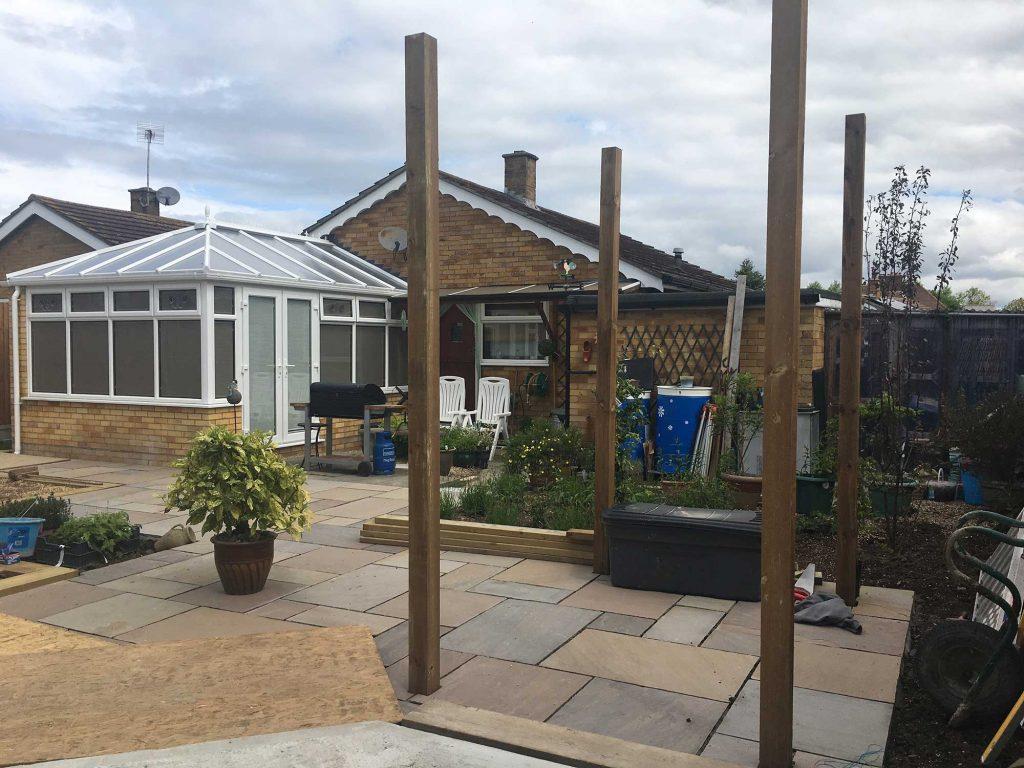 back garden makeover with coastal garden features