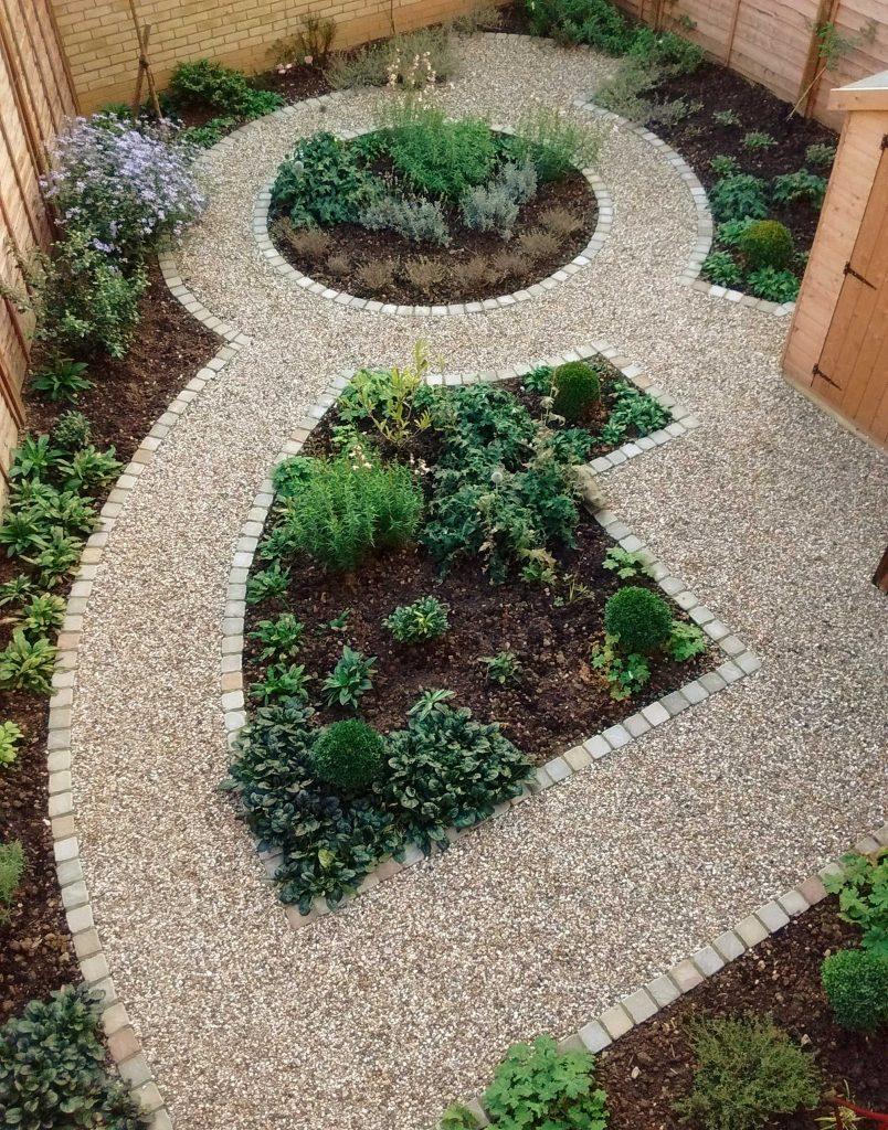 path built by landscape contractor