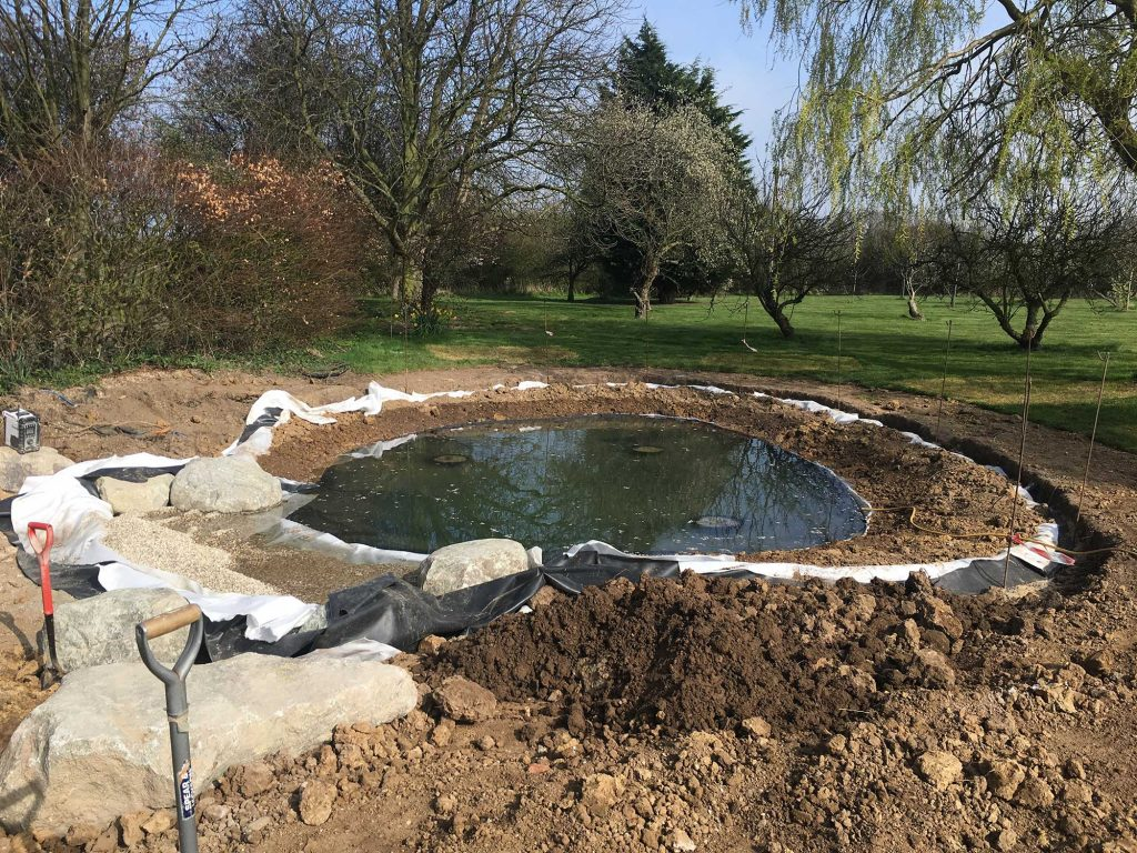 new wildlife pond before planting