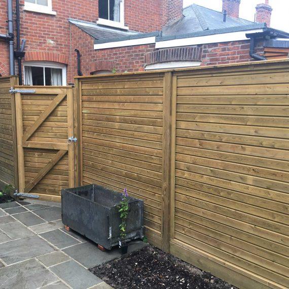 garden fence with garden gate