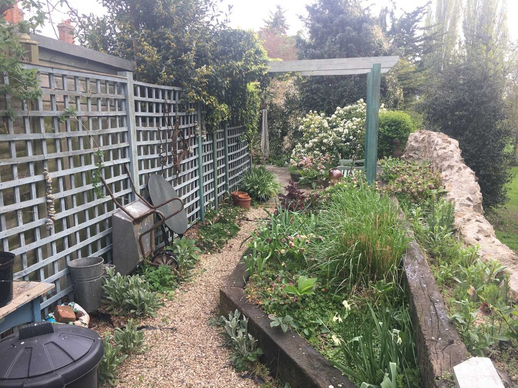 small back garden before landscaping