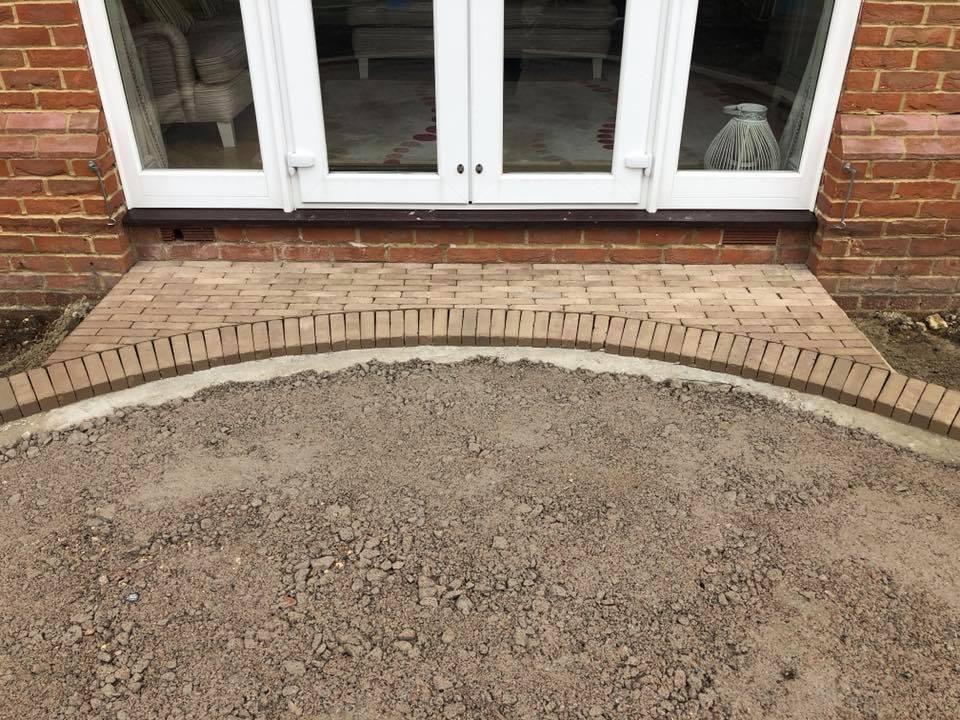 brickweave patio edging