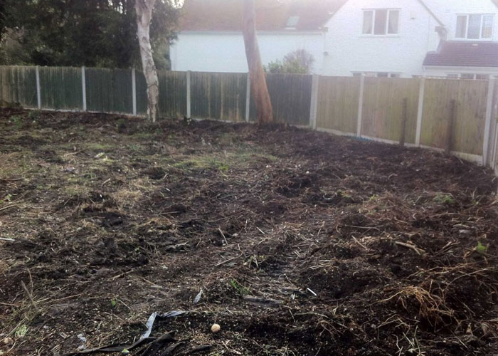 during garden clearance from holland landscapes
