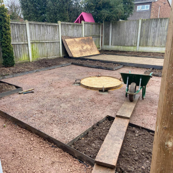 preparing a base for artificial turf installation