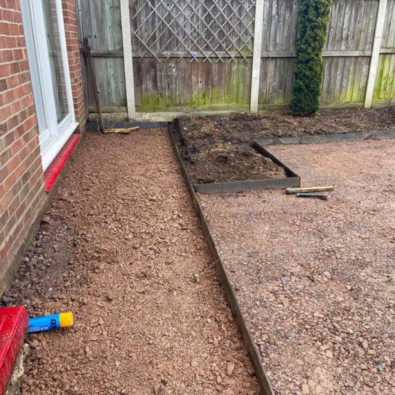 hard landscaping preparation for easy care garden